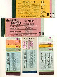 disney knotts berry farm ticket booklets - Knotts Berry Farm Halloween Tickets