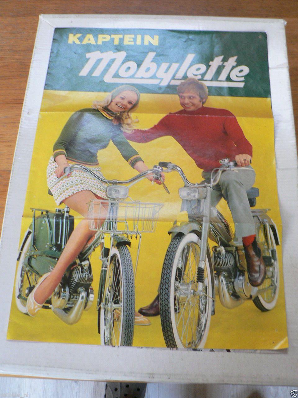 D892 Kaptein Mobylette Poster Eeg Av Mopeds Brochure Model Dutch 12