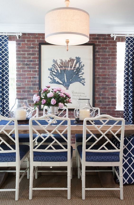 Get The Look Chinese Chippendale Chairs Dining Room Blue Chippendale Chairs Cottage Dining Rooms
