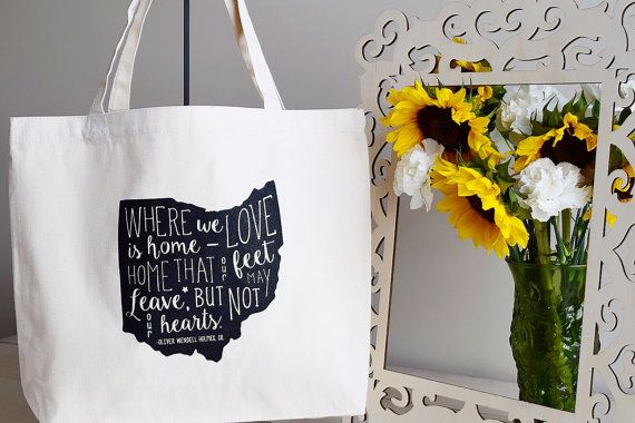 Ohio is Home Organic Cotton Tote by InvokeThyQuote on Etsy
