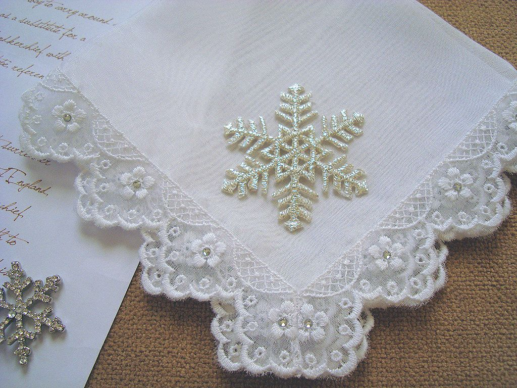 Winter Wedding Hanky \