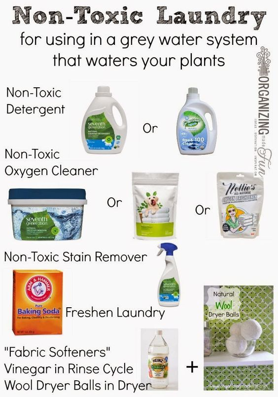 Non Toxic Laundry For Using In A Grey Water System That Waters