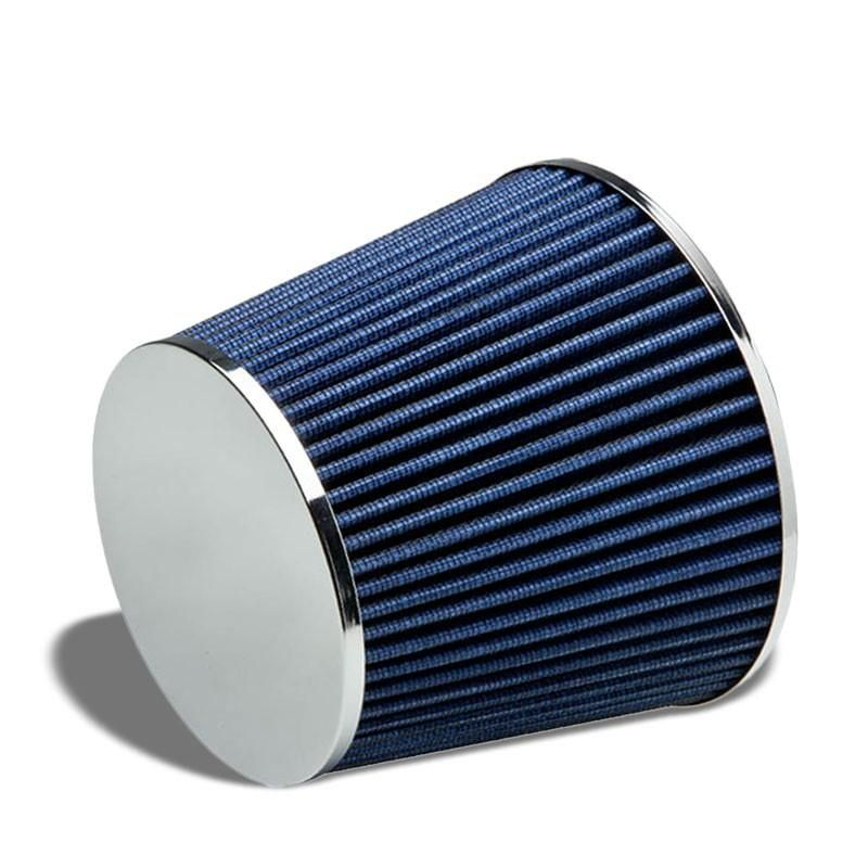 """RED UNIVERSAL 3/"""" 76mm FLANGE AIR FILTER FOR TOYOTA SHORT//COLD AIR INTAKE"""