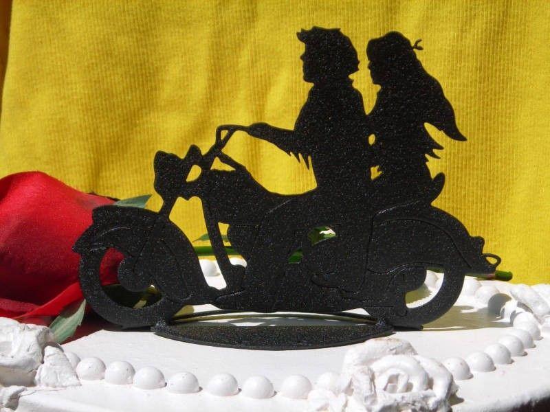 Motorcycle BIKER Wedding Cake topper. $45.00, via Etsy. | weddings ...