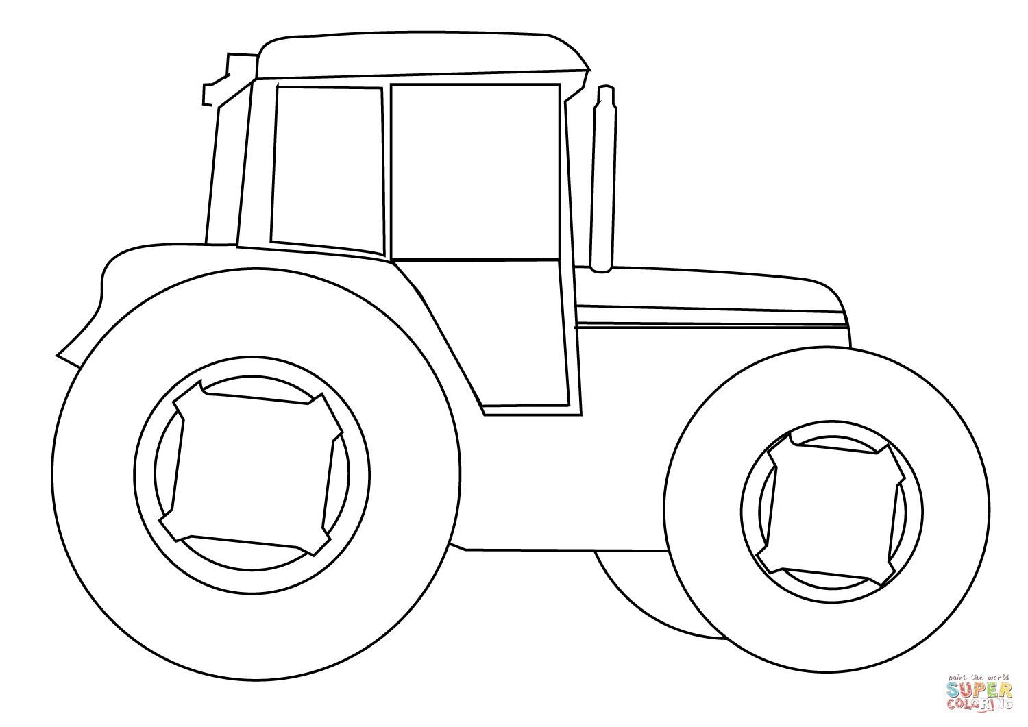 Free Printable Tractor Colouring Sheets