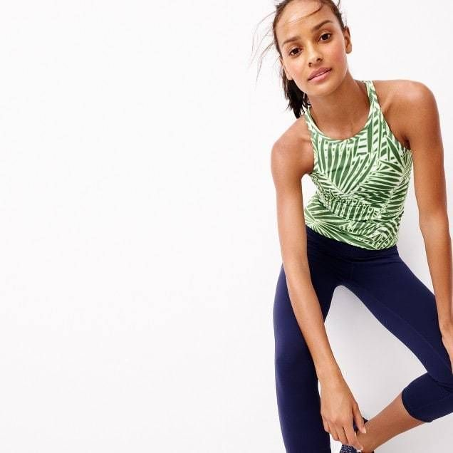29d4245f08a9 New Balance for J.Crew Racerback tank top with built-in sports bra ...