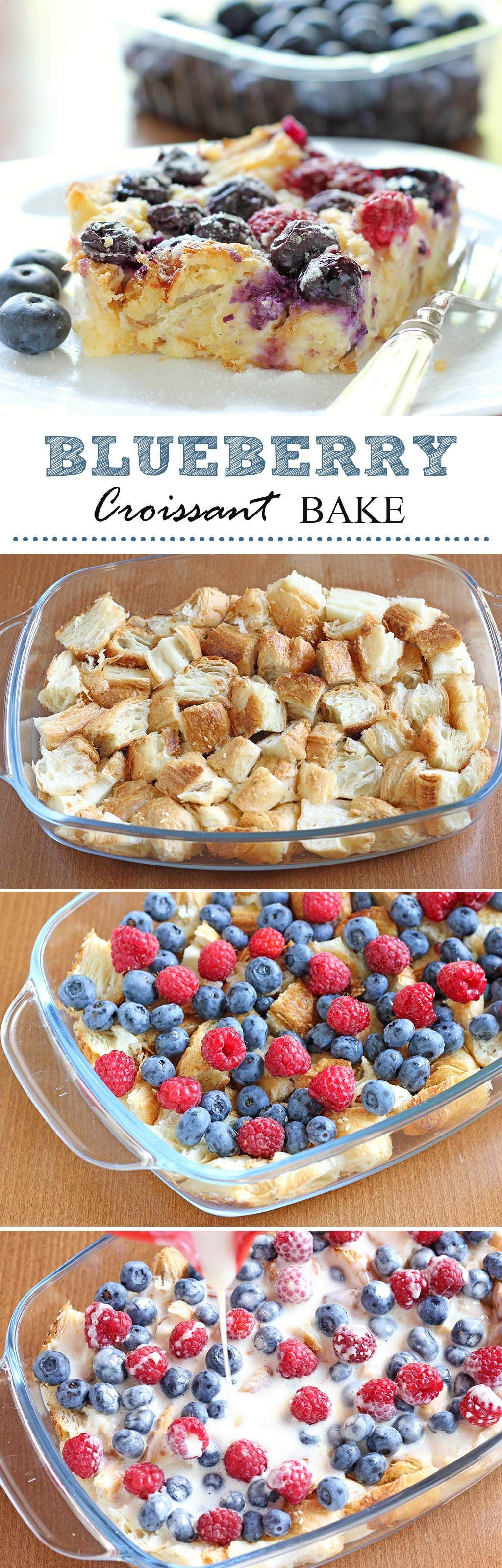 Blueberry Croissant Bake | Cakescottage