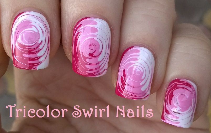 Tricolor Swirl Nails Super Easy Toothpick Nailart For More