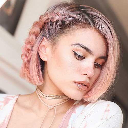 Schone zopf frisuren fur kurze haare