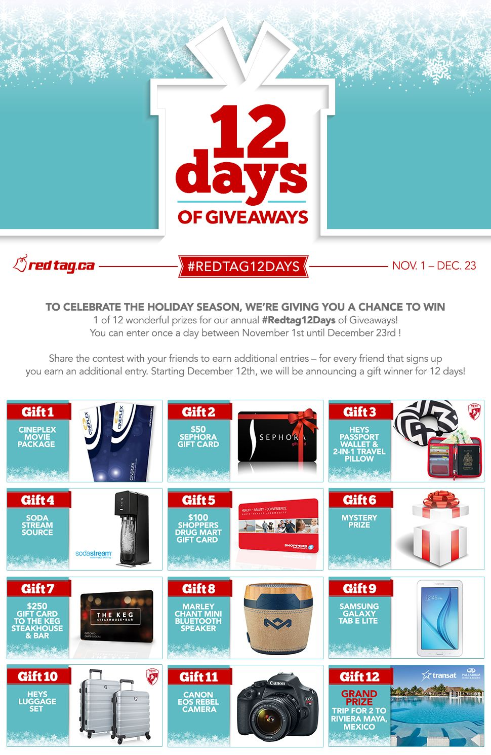 wogl vacation a day giveaway enter the redtag ca 12 days of giveaways contests 3054