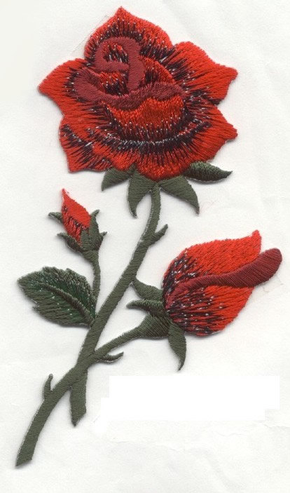 4614a1d6451b71 ROSE RED Roses with rose buds Applique Iron or Sew On patch by Cedar Creek  patch Shop on Etsy