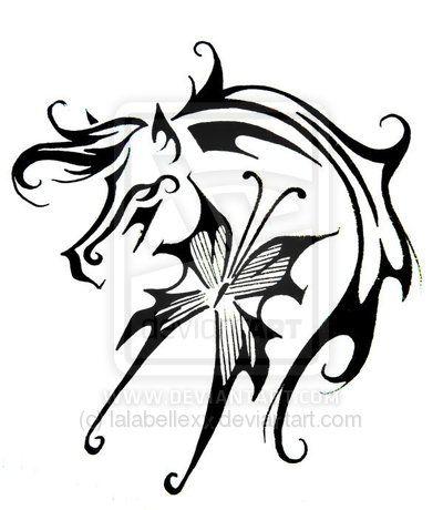 6e71d1281c9bd Horses Tattoos Design for Woman | Horse butterfly tattoo design by  ~lalabellexx on deviantART