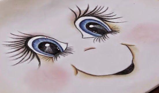 Pintura Em Tecido Rosto De Boneca De Pano Pintura De Rosto