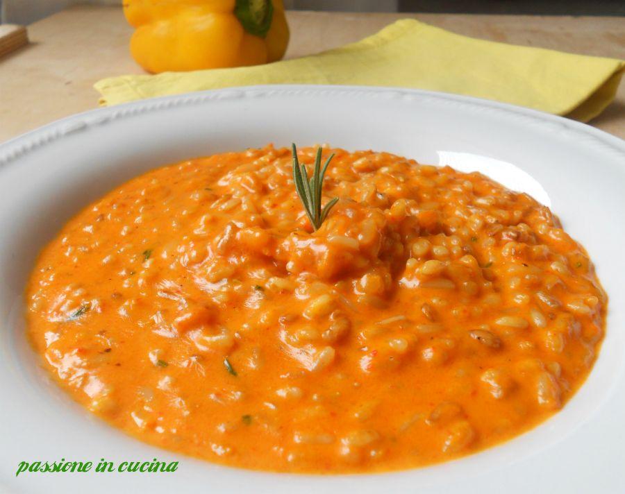 Risotto alla crema di peperoni ricetta vegetariana for Ricette di pasta