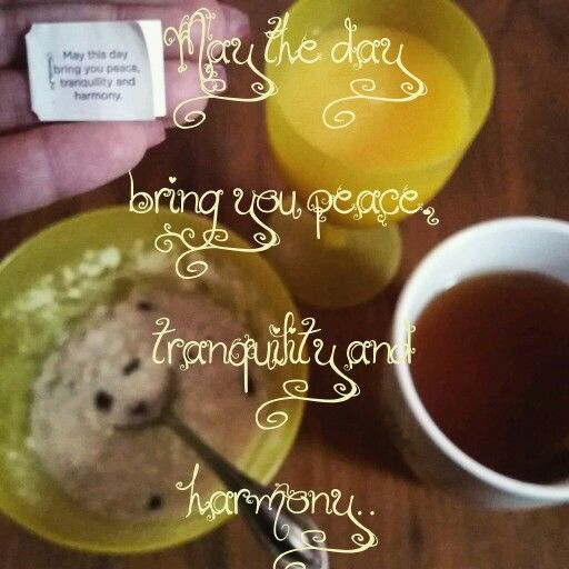 "Good morning! It's freezing in Brooklyn but I'm indoors enjoying breakfast, my Yogi Chai Green Tea, listening to some Joel Olsteen... -It's an Oatmeal kinda day, Yum!   Today's Yogi Message is ""May this day bring you peace, tranquility and harmony.  *Have a beautiful day today."