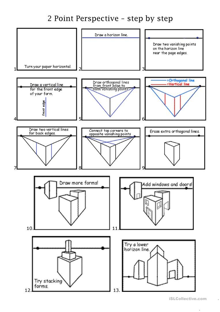 2pt Perspective Worksheet Free Esl Printable Worksheets Made By