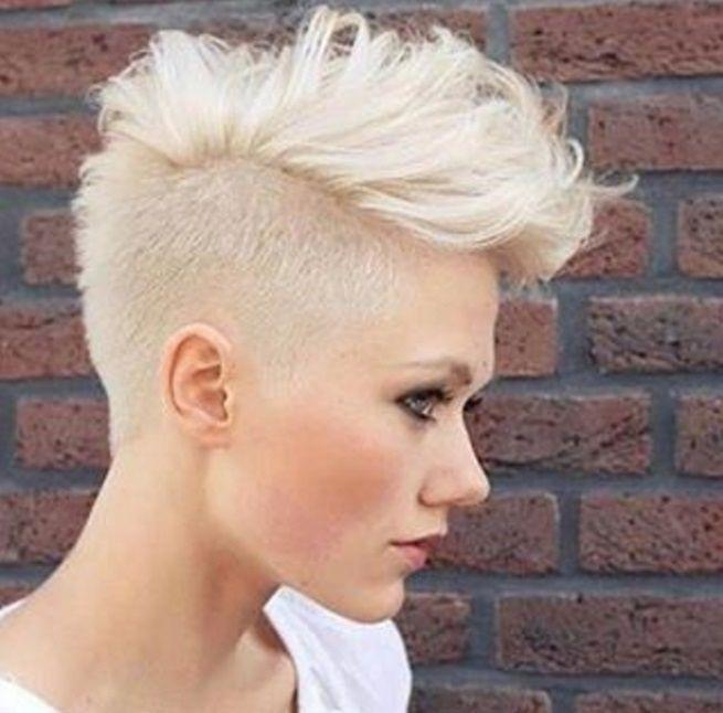 Frauen Frisuren Eine Seite Kurz Frisuren Kurzhaarfrisuren