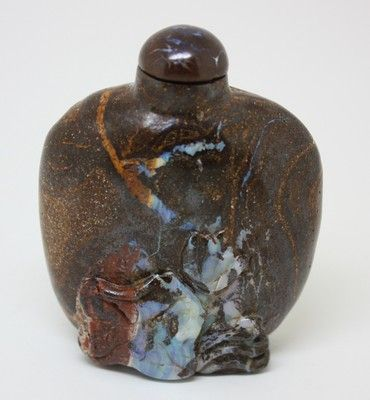 Really cool & unique Boulder Opal bottle - I would display this on a shelf with collectibles!