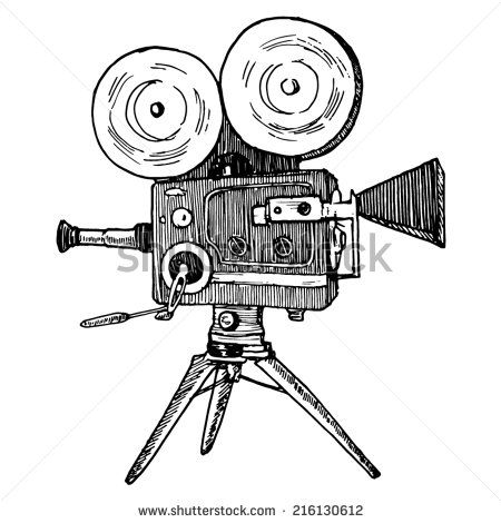 Pin De Lizzie Kennedy Em Retro Logo Camera De Cinema Camera De Filme Camera Fotografica Desenho