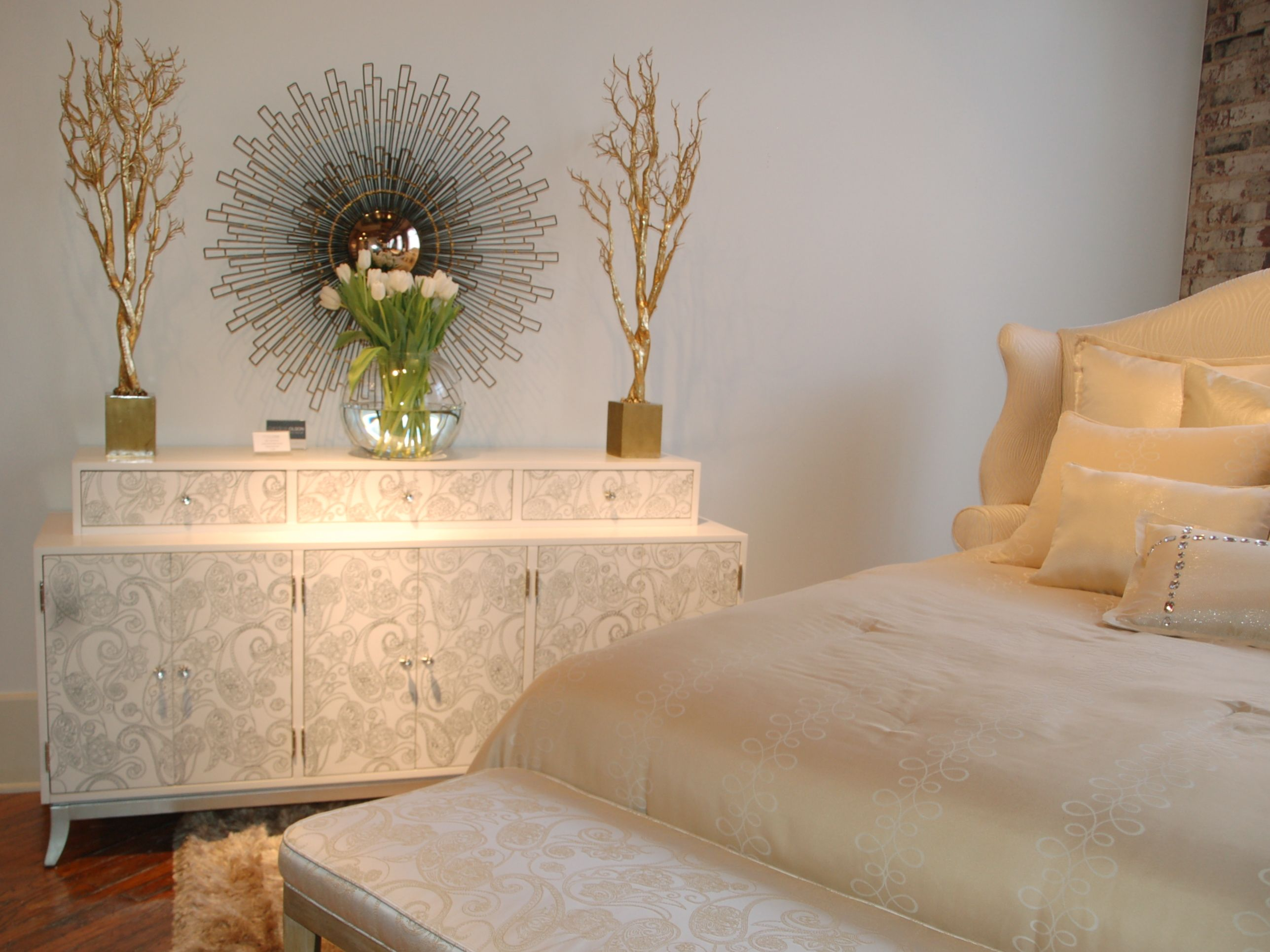 Candice Olson   KAMALA Chest At Highland House Furniture: Hand Painted  Paisley Art On Drawer Fronts With Glint Metallic Finish Base.