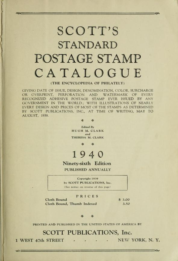 Scott S Standard Postage Stamp Catalogue Scott Publishing Co Free Download Borrow And Streaming Internet Archive Stamp Catalogue Internet Archive Postage Stamps