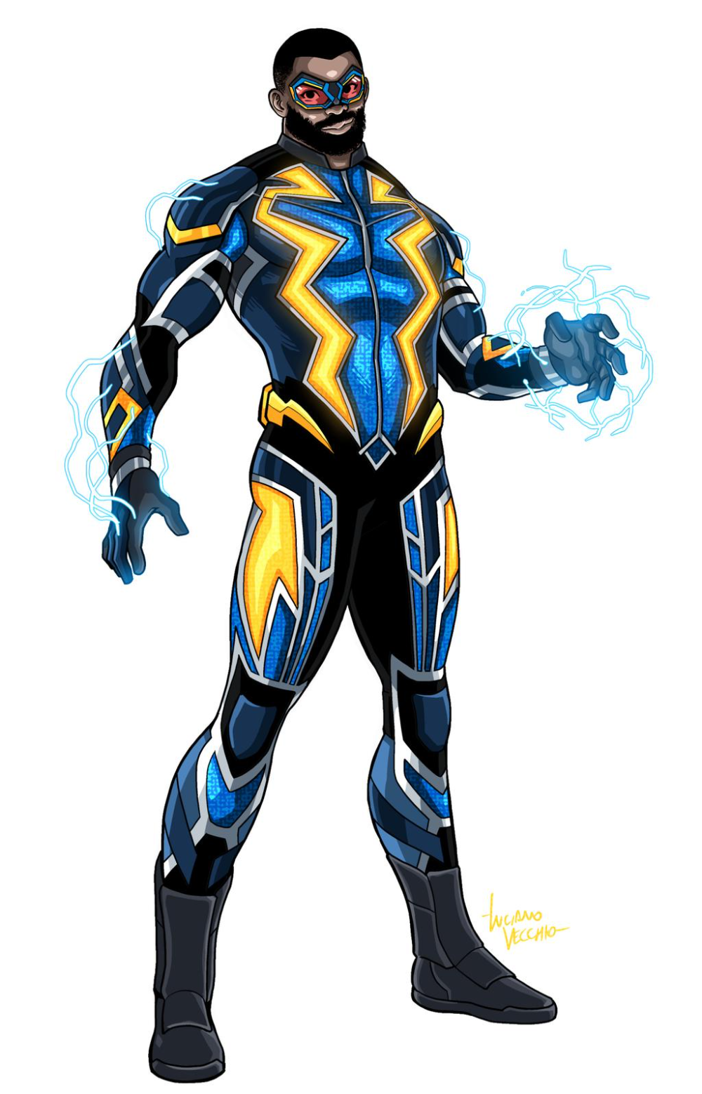 Black Lightning By Lucianovecchio On Deviantart Black Lightning Black Comics Superhero Design