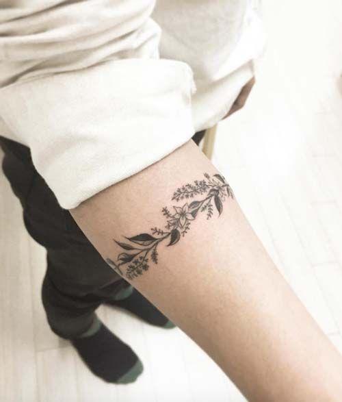floral armband tattoo i ekli kol band d vmesi kol. Black Bedroom Furniture Sets. Home Design Ideas