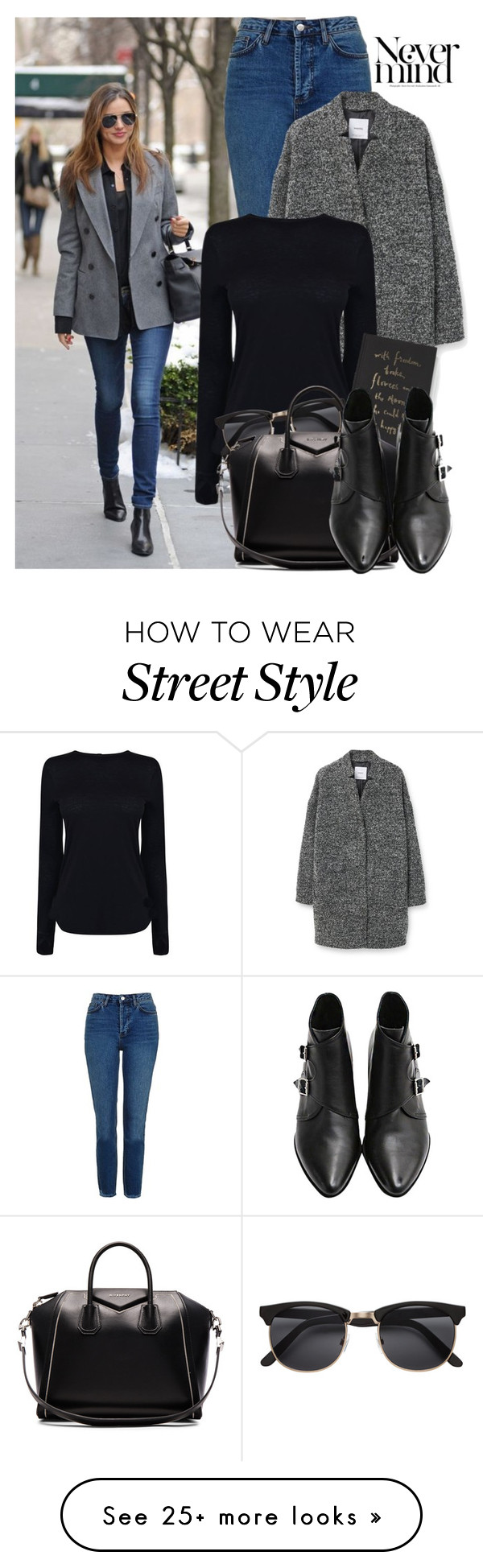 """29. Street Style"" by facking-fashion-guru on Polyvore featuring Topshop, MANGO, Helmut Lang, Kate Spade and Givenchy"