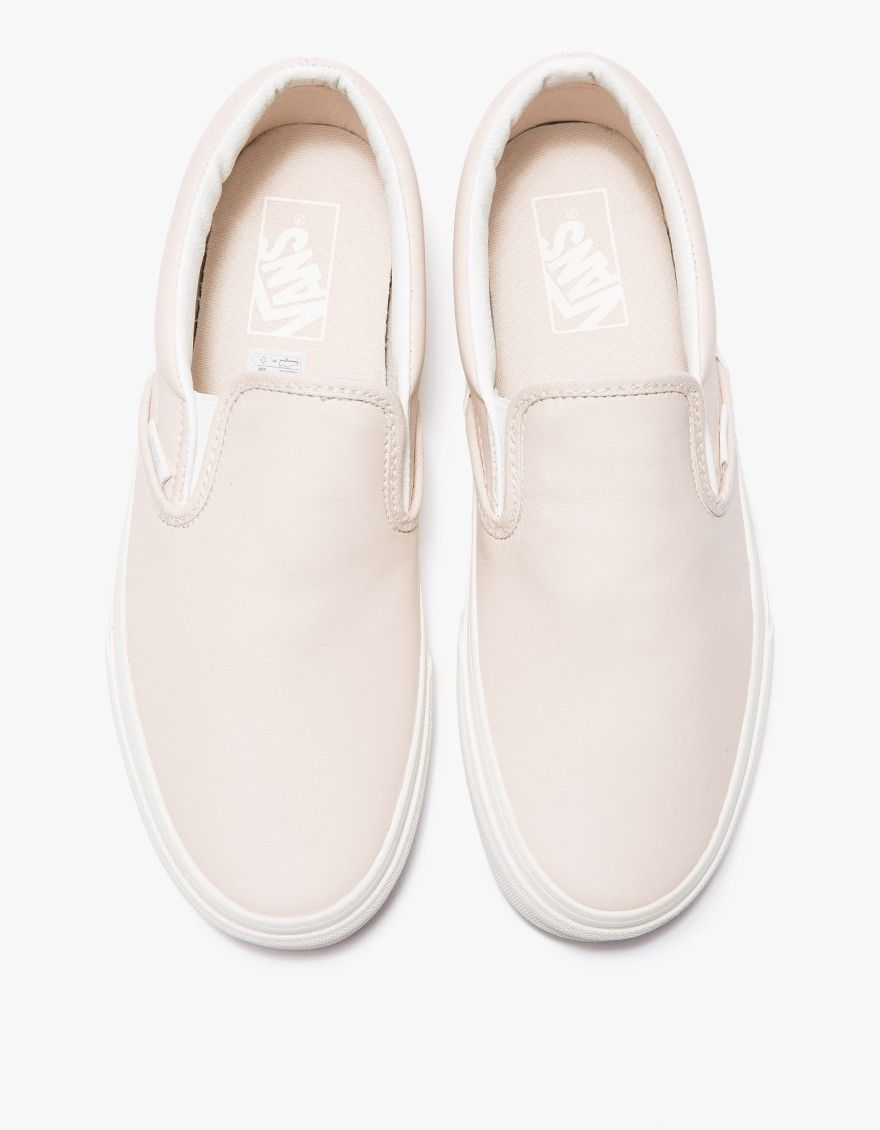 99a1719acc Classic slip-ons in soft Whispering Pink leather from Vans