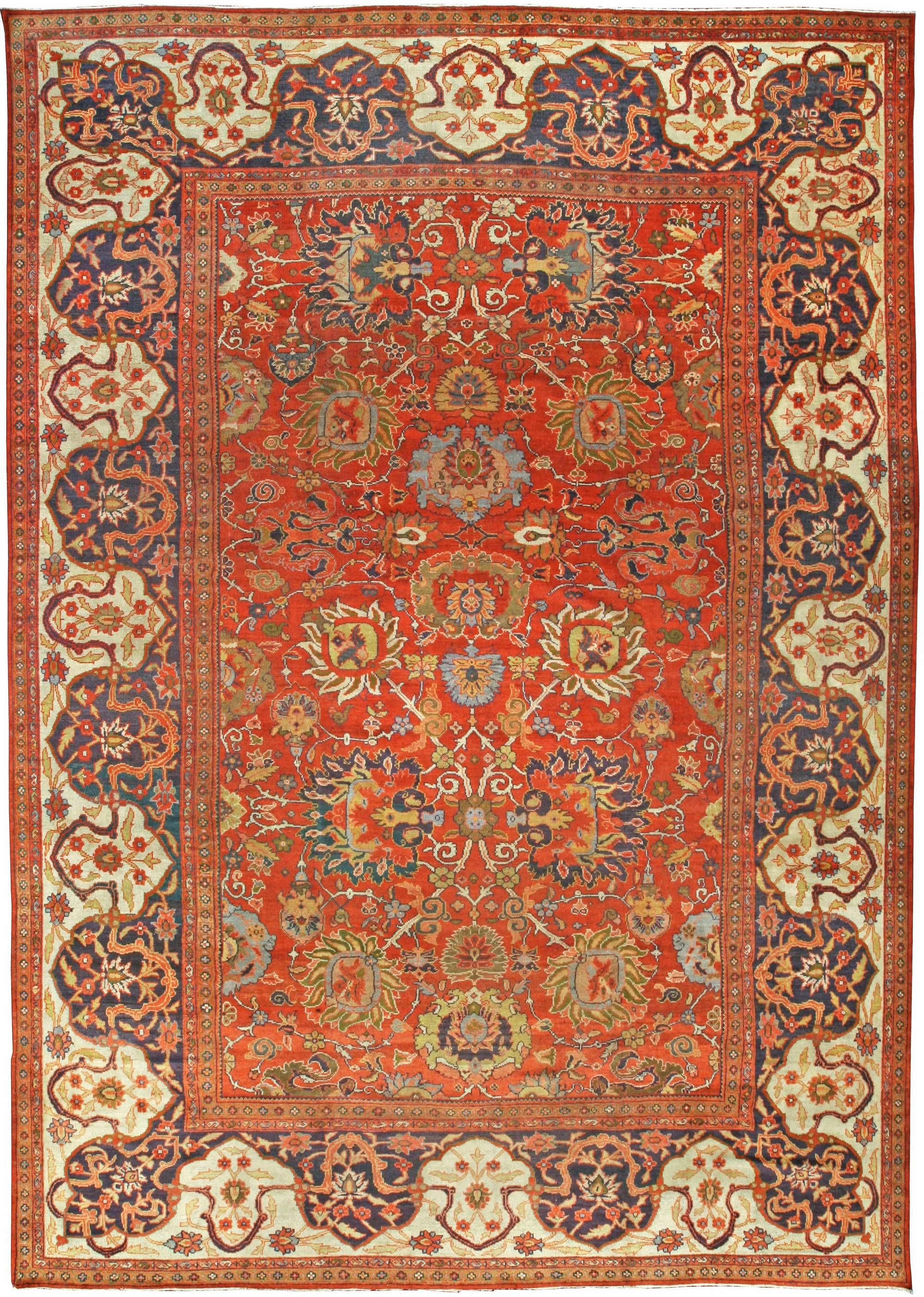 19th Century Persian Sultanabad Red Botanical Handmade Carpet Bb6711 By Dlb Antique Rugs Persian Carpet Sultanabad Rug Antique Rugs