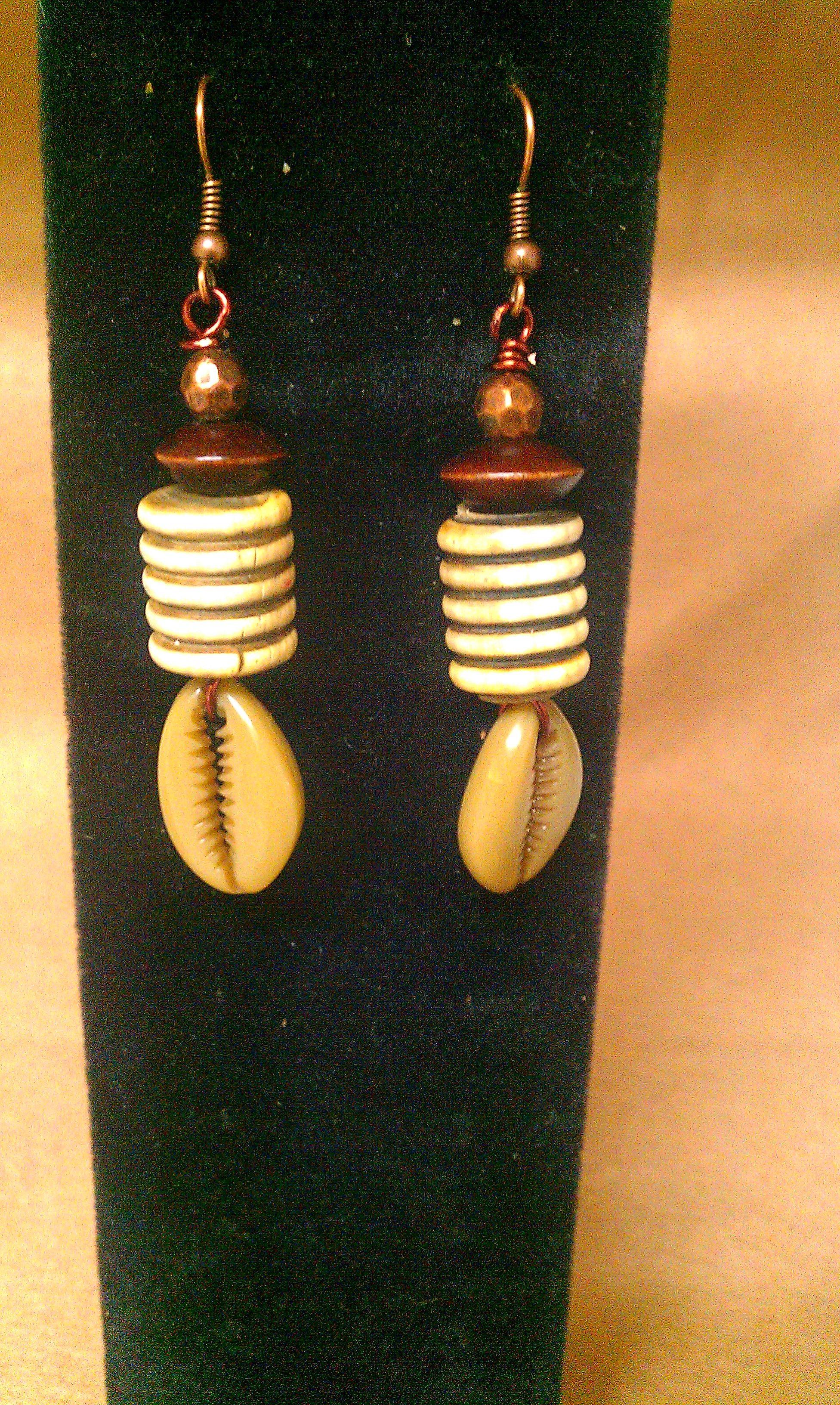 Earrings · Mocha Cowrie Shell Earrings