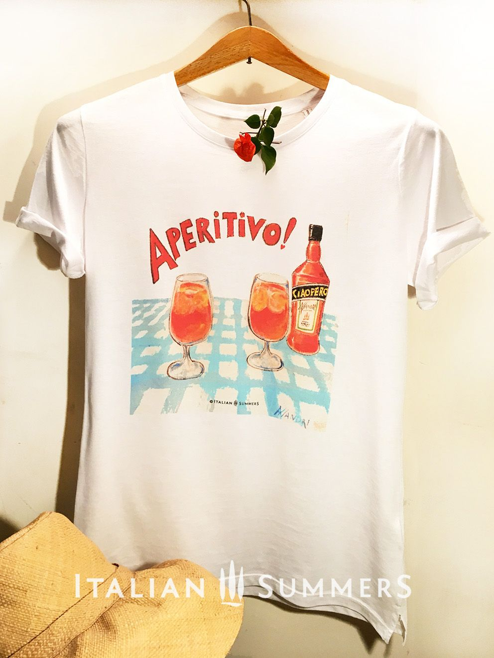 b152599dba T-shirt APERITIVO APEROL. The legendary APERITIVO T-SHIRT! The ultimate  excuse to celebrate a day's work with your friends with a drink. The  Italian way!