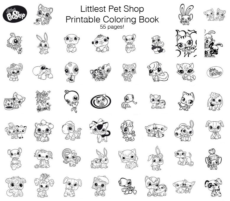 Littlest Pet Shop Free Printable Coloring Book Free Printable Coloring Printable Coloring Book Free Printable Coloring Pages