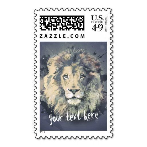 COSMIC LION KING   Custom Postage Stamp