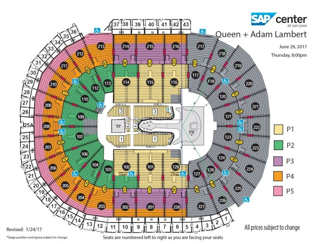 The Most Awesome Along With Gorgeous Sap Center Seating Chart Concert Di 2020