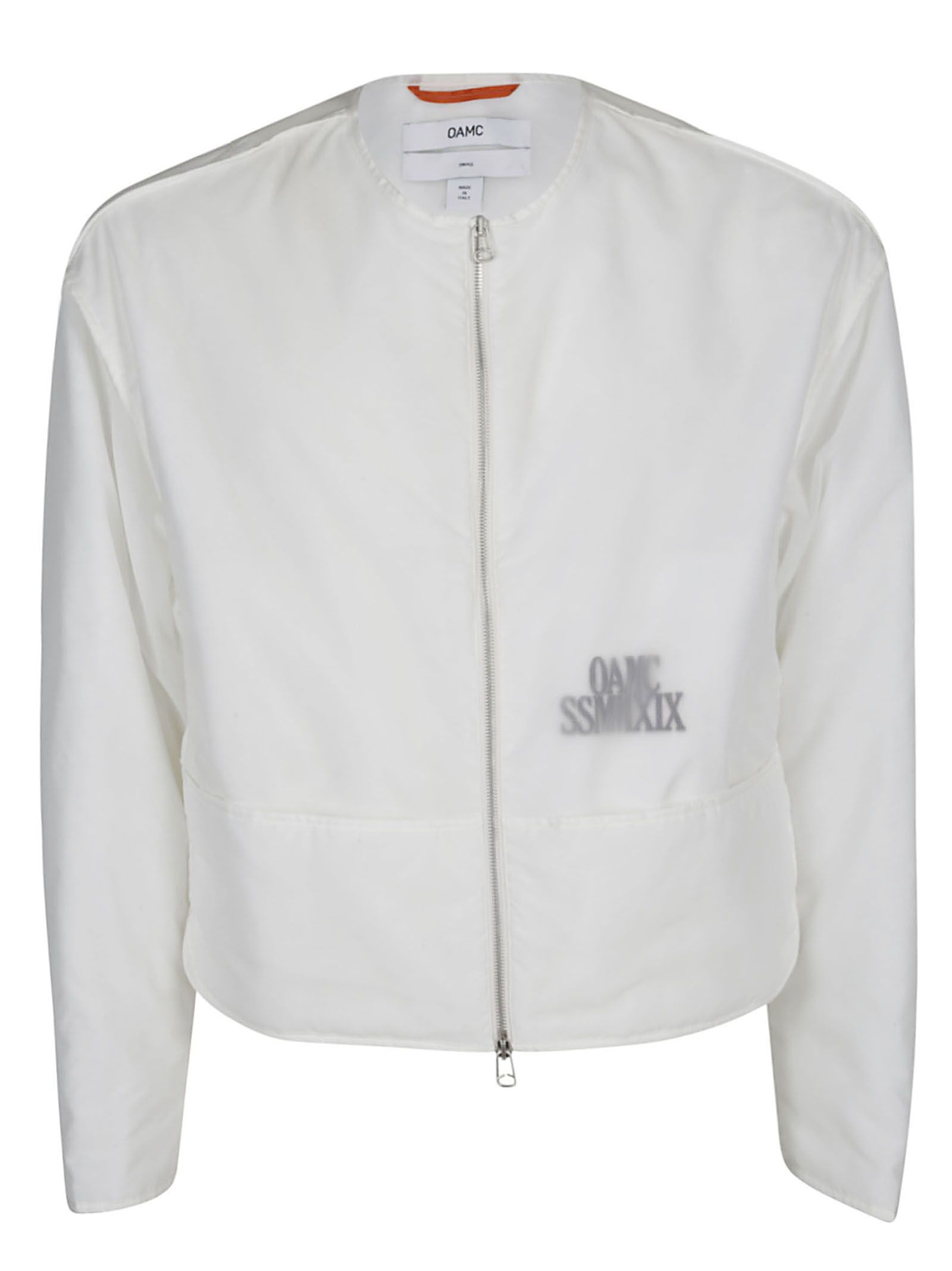 Oamc Slim Fit Jacket In White | ModeSens | Slim fit jackets