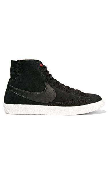 Awesome Nike Shoes NIKE Blazer Mid Suede And Shearling High Top SHOE