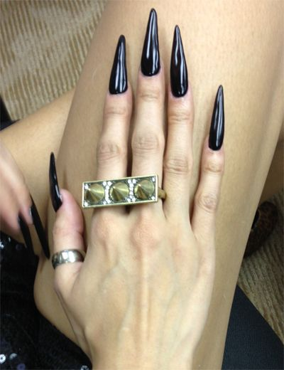 Artistic Rock Hard Stiletto Nail