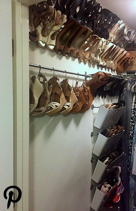 Organized shoe storage without using an inch of precious floor space Organized shoe storage without using an inch of precious floor space