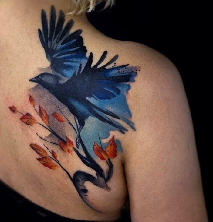 Fabbe Persegani Watercolor Bird Tattoo Watercolor Bird Tattoo Tattoos Watercolor
