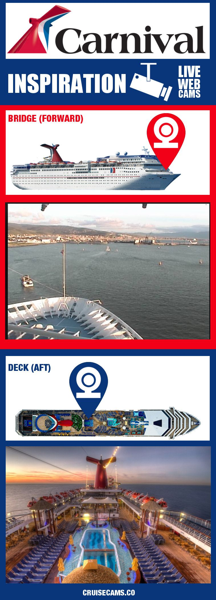 Carnival Inspiration Webcams See This And All Carnival Cruise - Cruise ship live webcams