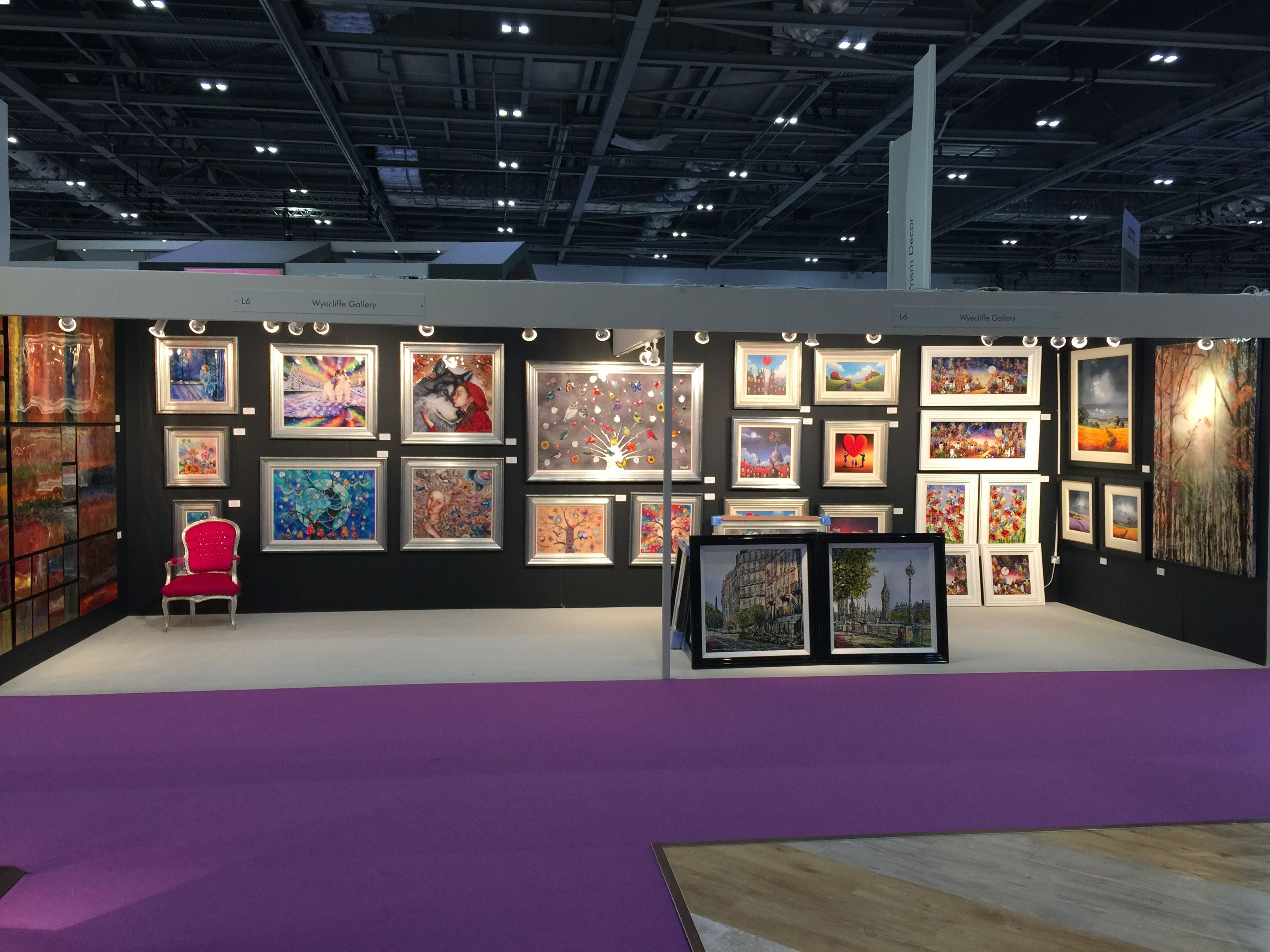 Wyecliffe Galleries at the Grand Designs Live exhibitions 2015.