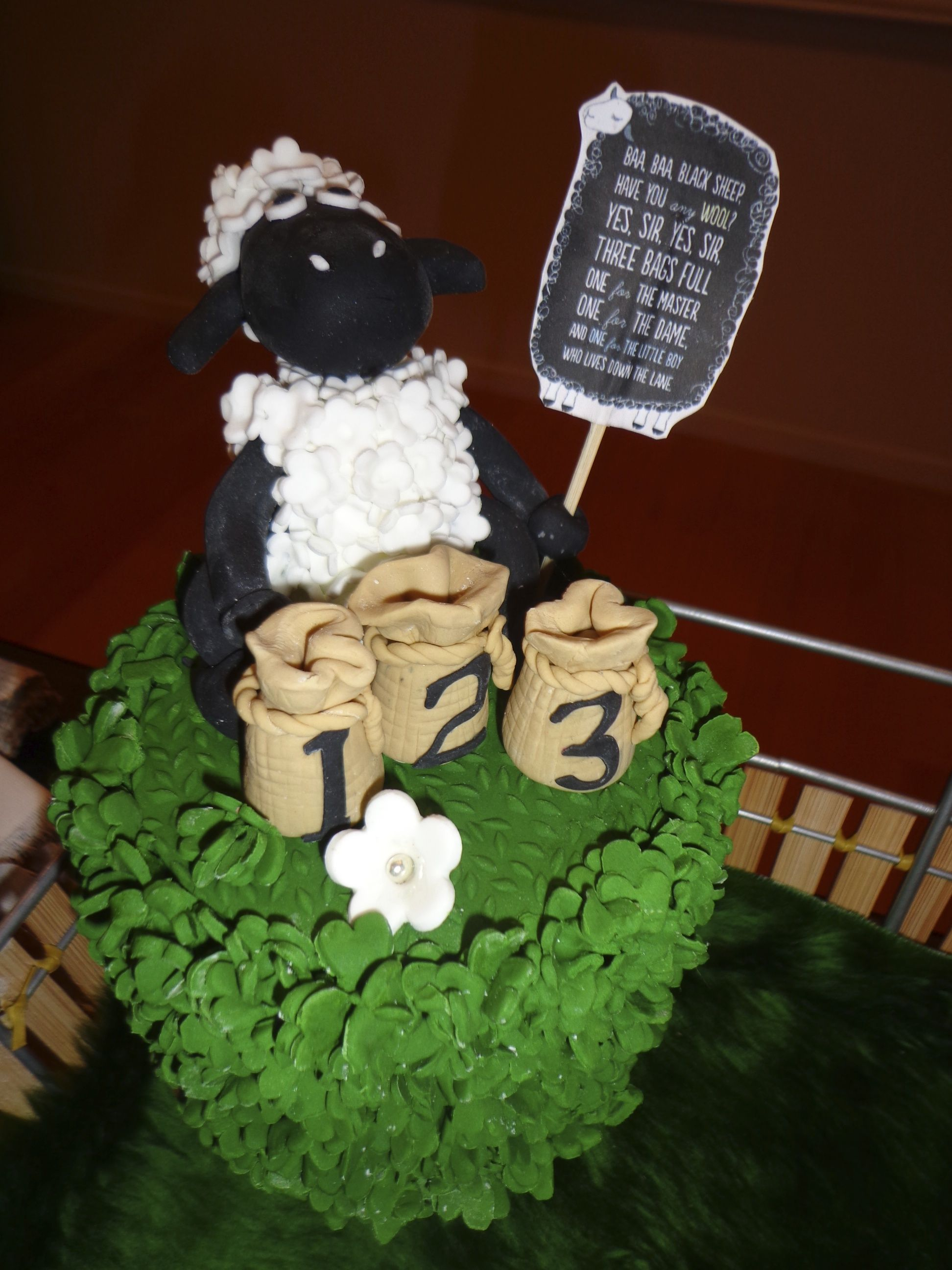 Baa baa black sheep display cake my cakes pinterest cake
