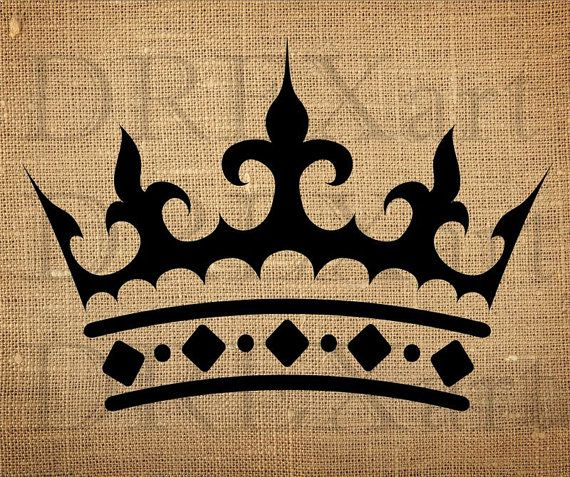 CROWN - FRENCH STENCIL for Burlap Pillows / Wood Signs - 10 x 12 - 7 mil Mylar