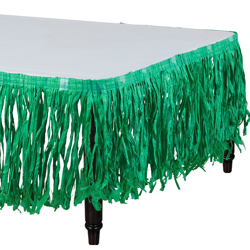 Green Grass Paper Table Skirt 9ft X 29in Party City