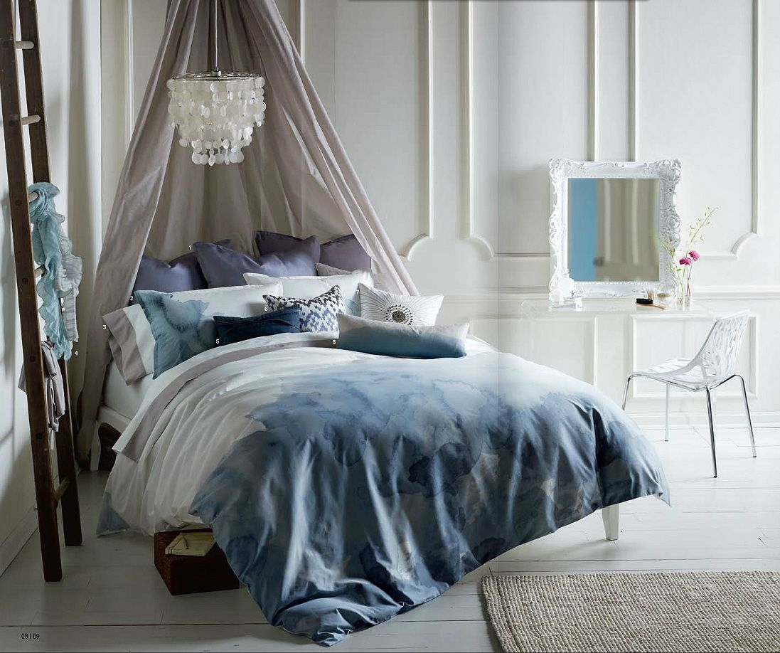 queen safdie ombre in krissy double pc pin comforter set blue co