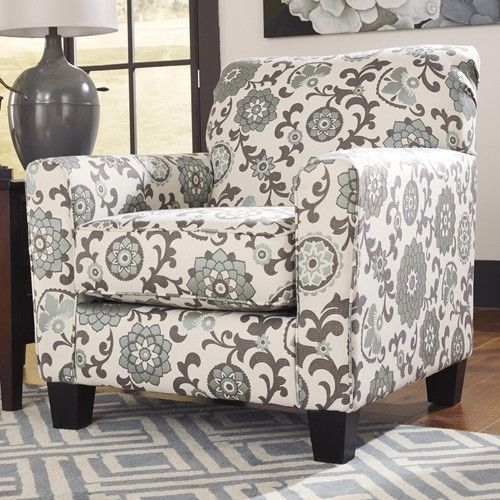 Gusti Dusk Living Room Set Signature Design: Ashley Furniture April Floral Accent Chair