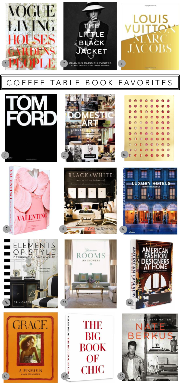 Coffee Table Book Favorites Confetti And Stripes Best Coffee
