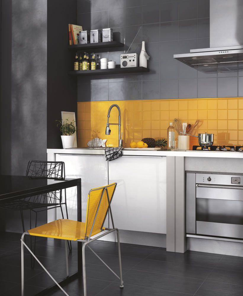 Weiß gelbe küchenideen unitech  piastrelle colorate per pavimento rivestimento  ragno