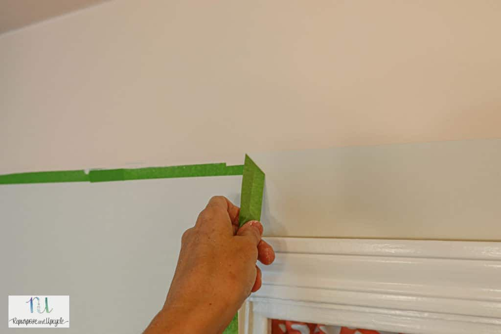 How To Paint A Ceiling With A Color Block Design Using A Paint Sprayer Painted Ceiling Paint Sprayer